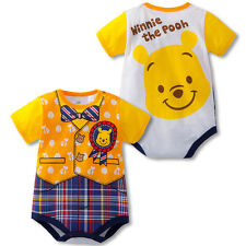 Baby Boys Girls Disney Winnie The Pooh Clothes Triangle Romper bodysuit