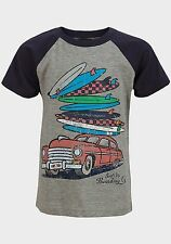 Boys Soul & Glory Surfboad Car T Shirt Blue & Grey Age 5-6 & 7-8 Years NEW