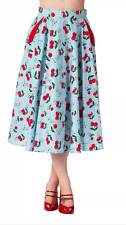 Banned 50s Blindside Cherry Rockabilly Jive Skirt