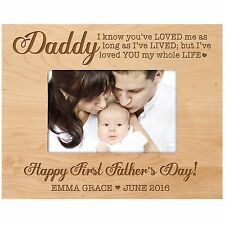 Personalized Picture Photo Frame Custom Engraved  Birthday Fathers Day Family