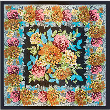 "2017 NEW ARRIVAL Women's Silk-Satin Square Scarf with Printed Floral  35""*35"""