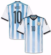 ADIDAS LIONEL MESSI ARGENTINA HOME JERSEY FIFA WORLD CUP BRAZIL 2014.