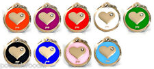 Pet Dog/Cat ID Tag,Quality Heart Design ID Tag,FREE DELIVERY, Engraving Option.