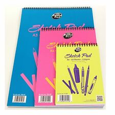 A5 A4 A3 FINE GRAIN DRAWING PAD 50 SHEETS 135gsm ARTIST TEXTURED SKETCHING PAPER