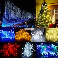 100/300/600 LED String Fairy Lights Indoor/Outdoor Xmas Tree Wedding Party FT