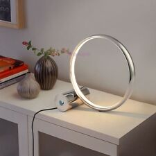 Modern Touch Sensor LED Ring Table Lamp Desk Light Reading Study Bedroom White