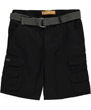 "Lee Big Boys' Husky ""Midnight Cell Pocket"" Belted Cargo Shorts (Sizes 8H - 20H)"