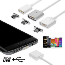 2A HIGH SPEED TPE Micro USB Charger Cable + Magnetic Adapter For Samsung Android