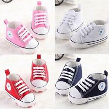 Soft Sole Crib Shoes Infant Baby Toddler Sneaker HOT Newborn to 18Months QWHG
