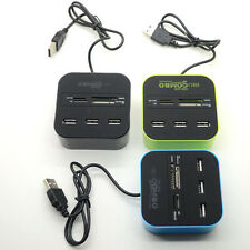3-Port USB2.0 Hub with SD/MMC/M2/MS/Micro SD Multi Memory Card Reader Combo 1PC
