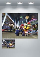 Super Mario Kart Giant Wall Art Poster Print - A3 / A4 Sections or Giant 1Piece