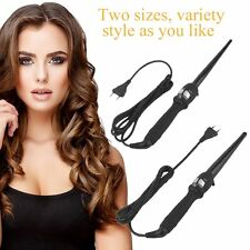 360° Rotatable Curlers Conical Curling Iron Single Tube Ceramic Hair Curly BE