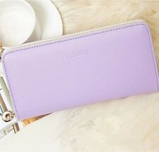 Women fashion leather wallet candy lady purse handbag clutch 4 color