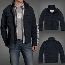 NWT ABERCROMBIE & FITCH MENS BALDFACE MOUNTAIN JACKET COAT NAVY SIZE LARGE A&F