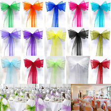 ORGANZA BOW SASH CHAIR COVER WIDER SASHES FOR A FULLER BOW WEDDING PARTY DECOR