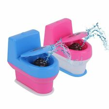 Novelty Spoof Gadgets Toys Mini Prank Squirt Spray Water Toilet Closestool HBE
