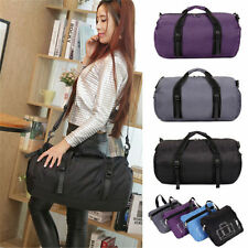 Womens Nylon Travel Duffle Bag Gym Tote Satchel Messenger Shoulder Sports Bags