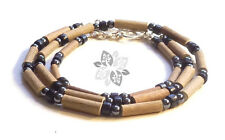 Hazelwood SET Therapeutic Black Hematite & Wood (Necklace-Bracelet or Anklet) &