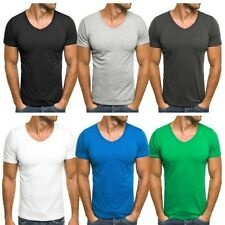 OZONEE STEG888 men'S T-Shirt V-Neck 5 Short sleeve Basic Sz S M L XL 2XL