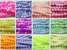 32pcs 8mm New DIY Home Necklace Round Glass Crystal Pearl Loose Spacer Beads