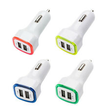 1Pc Dual Ports Adapter USB Socket Car Charger DC 5V 2.1A LED Colors Charger