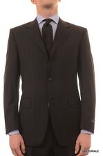 """CANALI Italy Black Striped Wool Suit Classic """"Natural Comfort"""" NEW"""