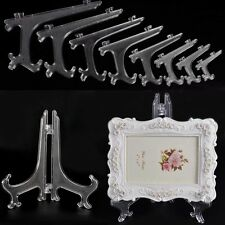 Plastic Easel Display Plate Stand Picture Frame Support Photo Clear Holder 3Size