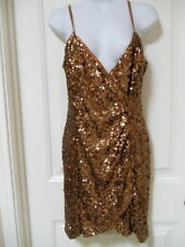 French Connection Bronze Sequin Cocktail Dress Size 8 10