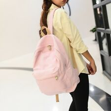 New Fashion Black Canvas Backpack Casual Travel Bags Preppy Style School Bags