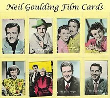 Belgian Chewing Gum - Film Stars 1950s Small Coloured Numbered Cards (REF: BEL2)