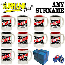 Its A Surname Custom Personalised Gift Boxed Mug - ANY SURNAME - family present