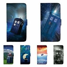 Doctor Who Patterned Wallet Flip Case Cover For iPhone 5 5S SE 6 6S 7 Plus 155C
