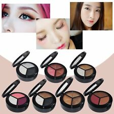 3 Colors Professional Women Makeup Cosmetic Smoked Eye Shadow Palette BE