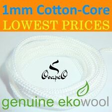 GENUINE EKOWOOL Cotton-Core Braided Silica Wick 1mm Authorized Distributor