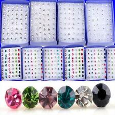 20 Pairs/40 Pcs  Earring Clear Colorful Crystal Rhinestone Jewelry Ear Studs