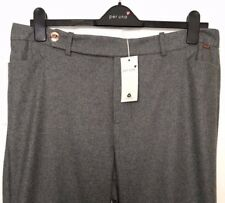 M&S Marks 16 18 £49.50 PerUna Roma Grey Wool Rich Blend Wide Leg Trousers BNWT