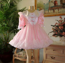 Adult SiSsy BaBy Dress Fancy Bows - Pink Satin