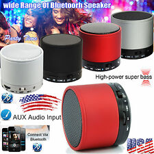 Wireless Mini Portable HiFi Bluetooth Speaker Mic for iPhone Tablet PC Laptop US