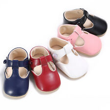 Toddler Newborn Baby Girls Crib Shoes Leather Soft Sole Pram Anti-slip Sneakers