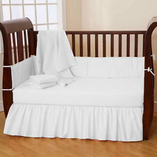 Nursery Bedding Set Crib/Cradle/Toddler Fitted Dust Ruffle Skirt Quilt Bumper