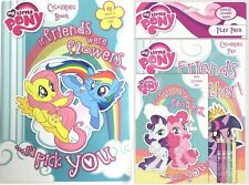 New MY LITTLE PONY COLOURING BOOK PLAY PACK COLOUR PENCILS & PAD ACTIVITY SET