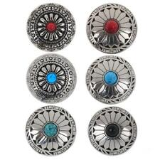 5x Metal Flower Tack Snap Studs Buttons NO-SEW Leathercraft Jeans Buttons 30mm