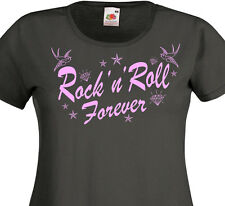 T-shirt femme ROCK'N'ROLL Forever -  Rockers Teddy Girl 50's Rockabilly Tattoo