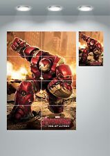 Iron Man Hulk Buster Large Wall Art Poster Print A3/A4 Sections or Giant 1Piece