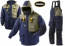 Frabill I4 Series Ice Fishing Suit Jacket & Bibs Combo Size S & 2XL - Color Blue