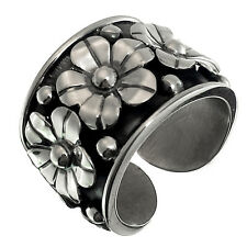 TAXCO VINTAGE STYLE 950 FLOWERS RING ADJUSTABLE | Mexico Sterling Silver