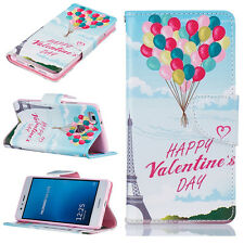 Balloon tower Patterned PU Leather Wallet Flip Case Cover For Various  Phones