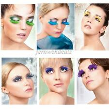 Women Girl Fancy Soft Feather Dramatic False Eyelashes Party Club Costume Makeup