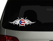 "Puerto Rico Vinyl Car Decal Sticker  8""(w) Puerto Rican Flag Boricua Create No1"