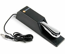 Pro Heavy Duty Chrome Sustain Foot Pedal for Portable Electronic Piano Keyboards
